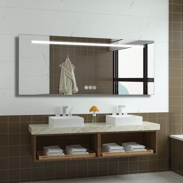 Bathroom Vanity Mirror, Frameless Vanity Mirror 72 Inches