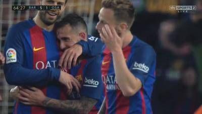 Paco Alcacer Goal – Barcelona vs Osasuna 7-1 – La Liga 26/04/2017 HD -  Click link to view & comment:  http://www.naijavideonet.com/video/paco-alcacer-goal-barcelona-vs-osasuna-7-1-la-liga-26042017-hd/