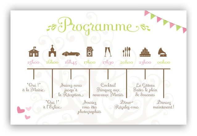 Programme Mariage