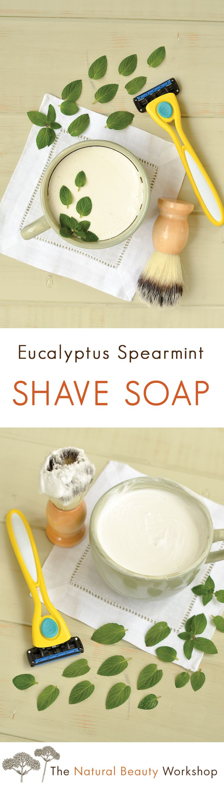 How to Make Eucalyptus Spearmint Shave Soap - Quick and Easy Tutorial!