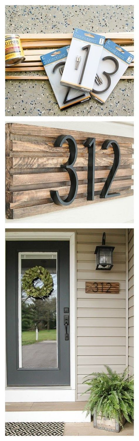 How to Make a Modern House Number