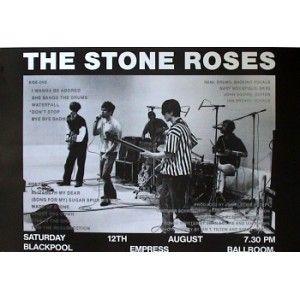 The Stone Roses - Blackpool Empress Ballroom - Large Black & White Tour Poster