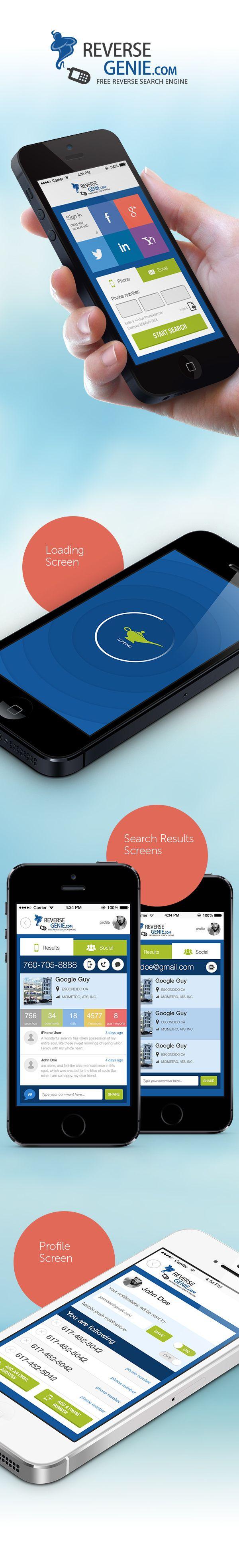 RG iOS App Design by Capcan, via Behance