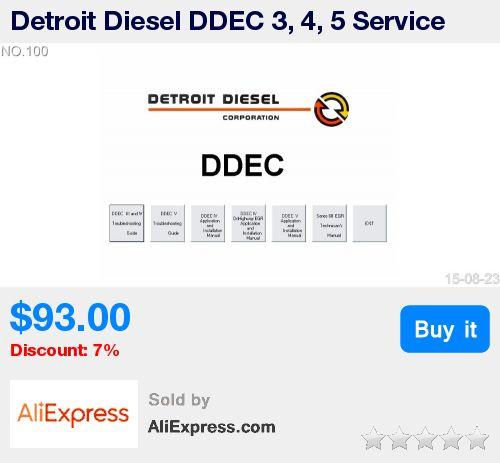 Detroit Diesel DDEC 3, 4, 5 Service Manual * Pub Date: 16:29 Jul 12 2017