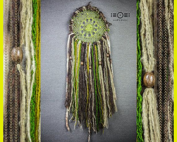 Hey, I found this really awesome Etsy listing at https://www.etsy.com/listing/521085478/dream-catcher-twig-nest-green-brown
