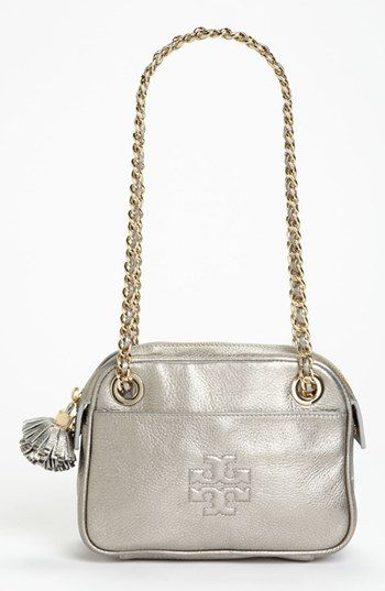 Tory Burch 'Thea' Metallic Leather Crossbody Bag available at #Nordstrom