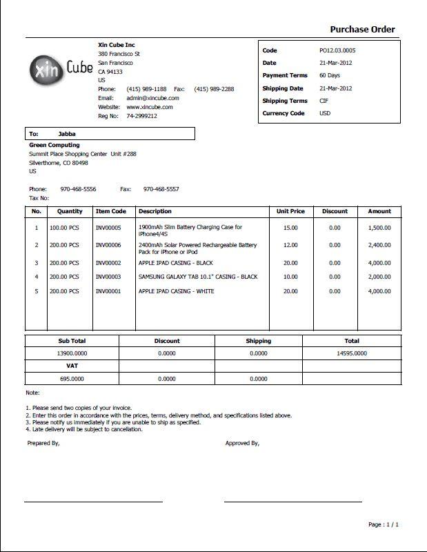 Po Sample Business Doc Invoice Template Sample Resume Invoice