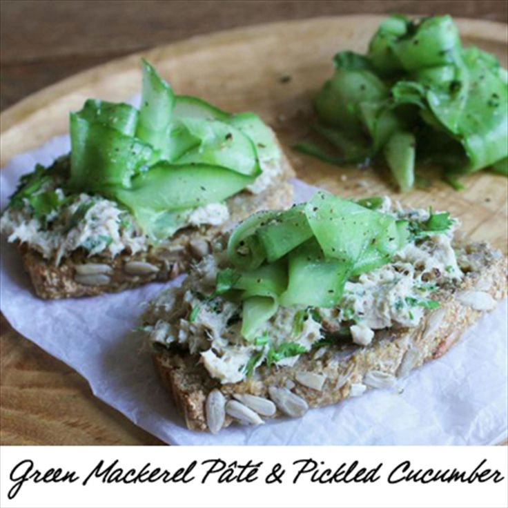 Mackerel Pâté with Pickled Cucumber #healthy #lunch