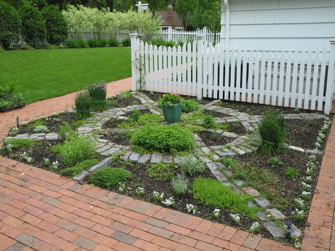 Herb Garden. traditional landscape by Bachman's Landscape Design - Tom Haugo