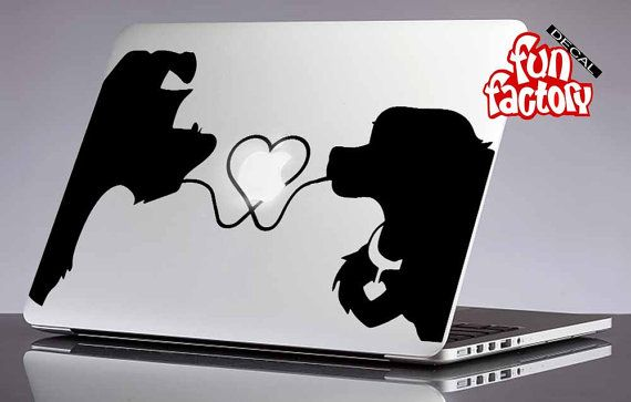 Lady and Tramp Disney Macbook Decal Sticker by FunDecalFactory