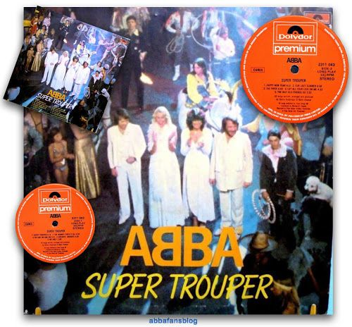 """The Indian release of Abba's """"Super Trouper"""" album used a slightly different picture for the cover - one which was more similar to the singl... #Abba #Agnetha #Frida #Vinyl #India http://abbafansblog.blogspot.co.uk/2016/11/indian-abba-release.html"""