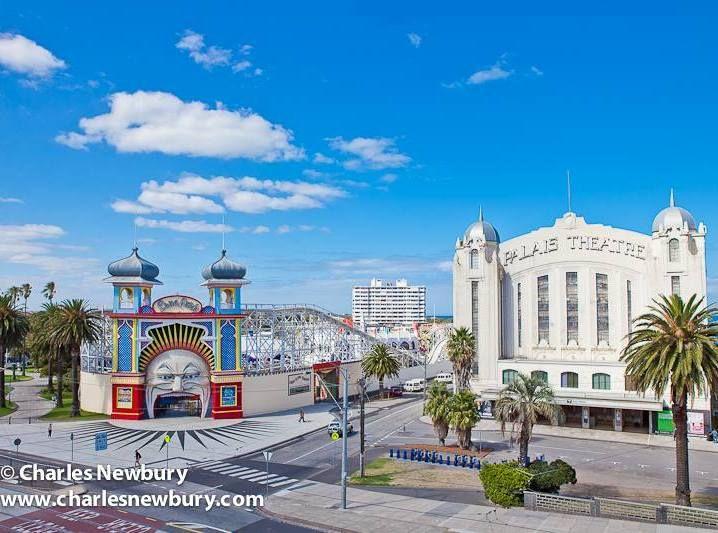 Luna Park and Palais Theatre, 2014.   Photo: charlesnewbury.com.au