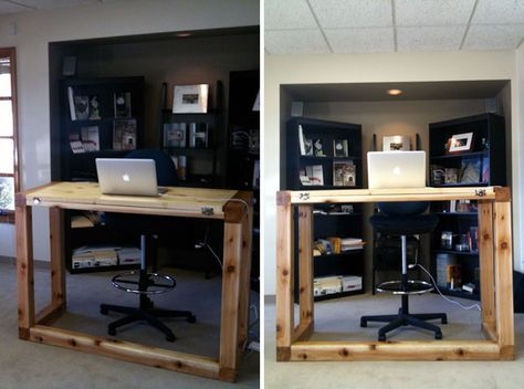 9 best images about Brico Bureau debout standing desk on Pinterest
