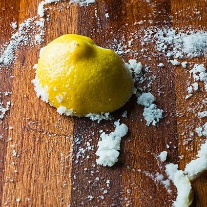 How to Clean a Wood Cutting Board with Oil and Lemon by tastingtable #Cutting_Board_Care