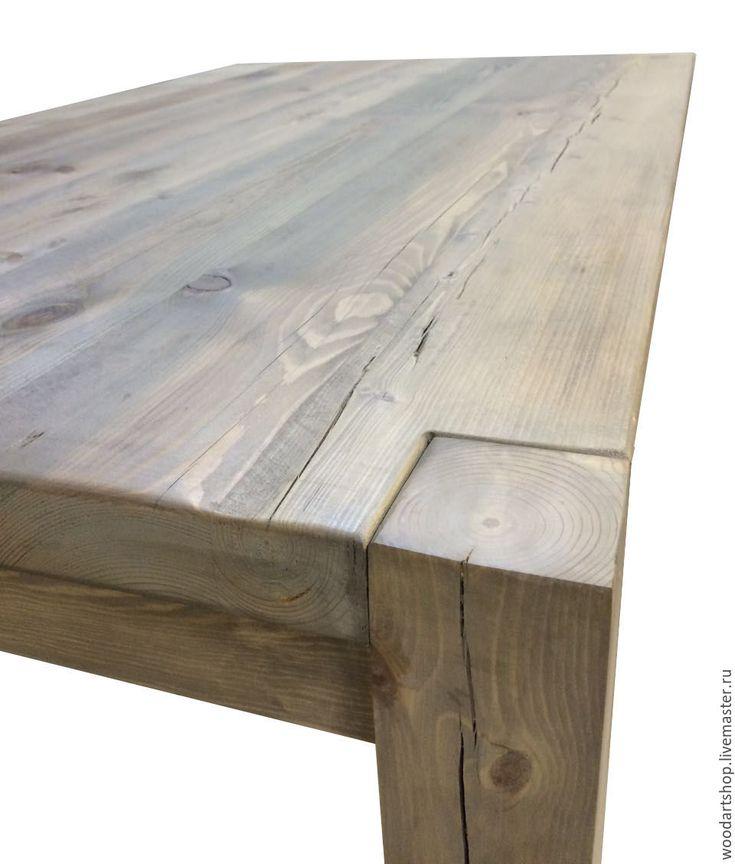 Купить Обеденный стол из амбарных досок - комбинированный, стол, обеденный стол, амбарная доска