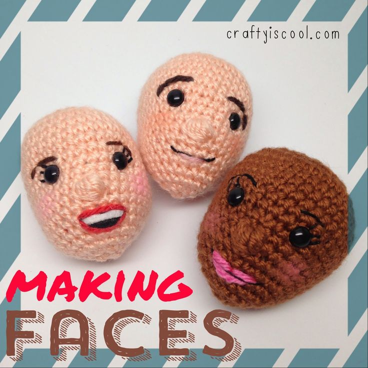 """AmiguruME Faces! Learn to make faces on your amigurumi    I have been loving making these videos! I've done a basic """"how to crochet""""  vide..."""