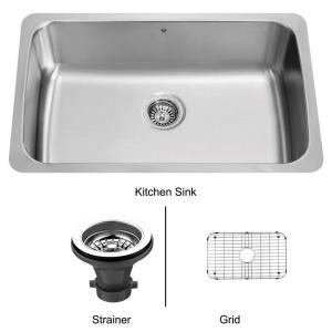 30 in x 19 in Undermount Stainless Steel Kitchen Sink, Grid and Strainer-VG3019CK1 at The Home DepotStainless Steel Kitchens, Shops Lists, Undermount, Sick, Improvements Ideas, Kitchen Sinks, Shopping Lists, Lakehouse Remodeling, Kitchens Sinks