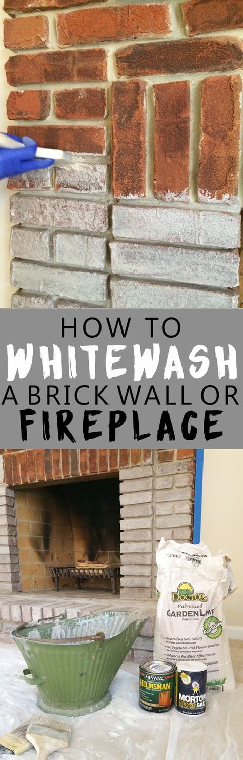 Loves the Find: How to paint whitewash (limewash) brick. Easy DIY whitewash recipe and step-by-step instructions.