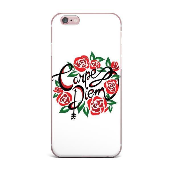 "Yenty Jap ""Carpe Diem"" Black Red Vector iPhone Case"
