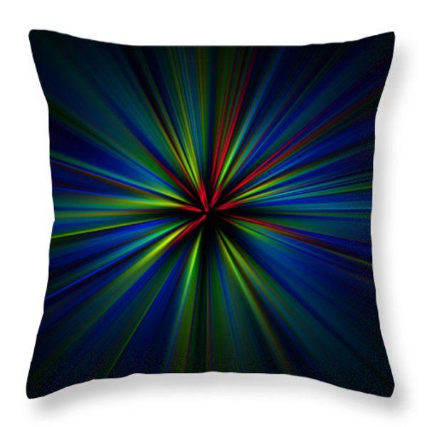 All Throw Pillows - Esplosione di luce colorata su fondo nero Throw Pillow by Orazio Puccio #business #b2bmarketing #socialmediamarketing #contentmarketing #marketingtips #digitalmarketing #marketing