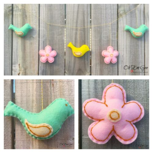 Starting from $35 NZD. Wild yet pretty, our birds & flowers garland will make for a cute decor item in any little girls room. Special features and accents are created and hand painted.