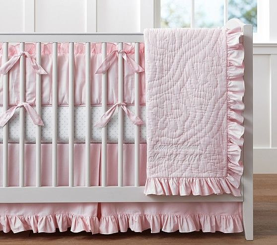 Ruffle Collection Nursery Bedding | Pottery Barn Kids - http://www.potterybarnkids.com/products/ruffle-collection-nursery-bedding-light-pink/?pkey=bgirls-nursery-bedding&&bgirls-nursery-bedding