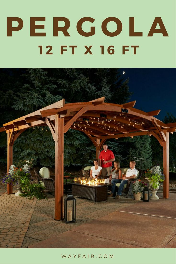 The outdoor great room! This is the perfect pergola for our backyard!