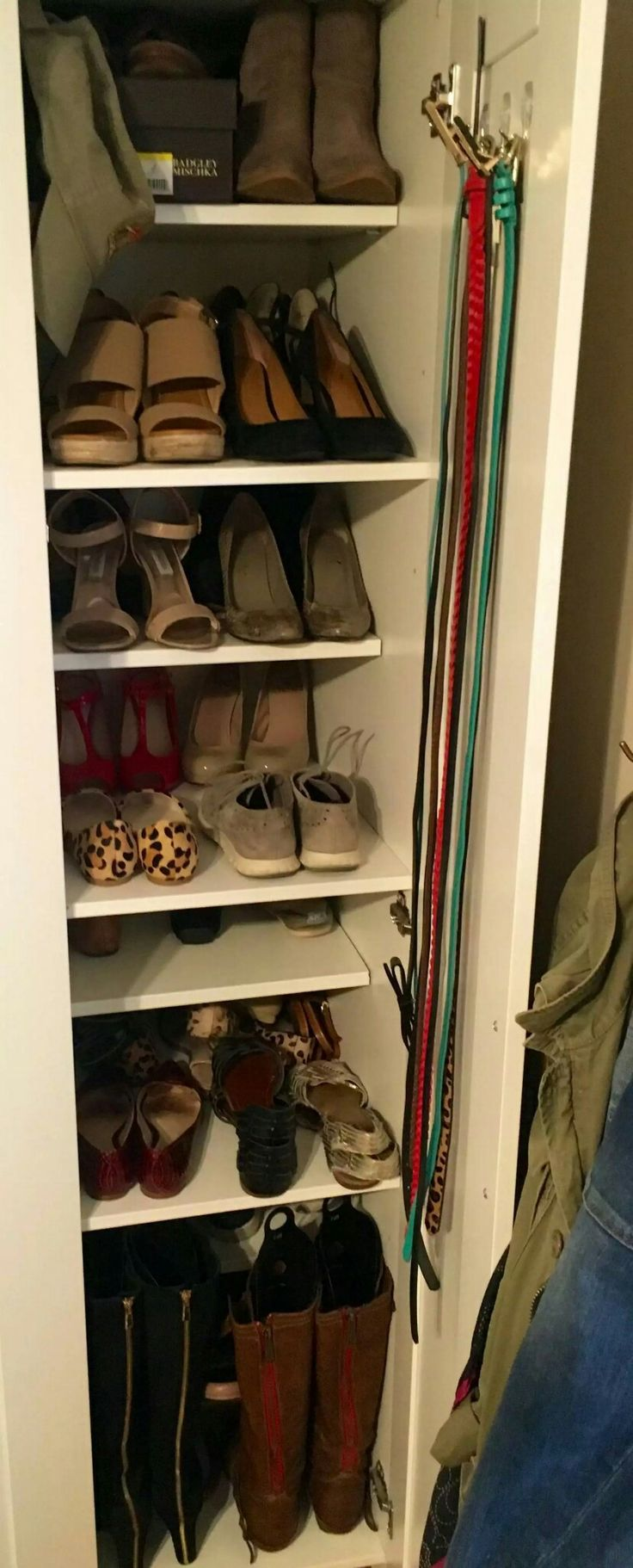 Brimnes 3 door wardrobe hack Add extra shelves  Comments at https://m.reddit.com/r/ikeahacks/comments/4ptk7w/customizing_brimnes_wardrobe/ #diy