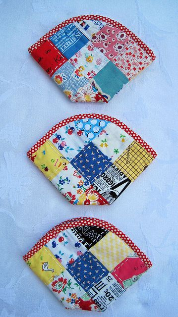 agarra ollas calientes. Pouches & Tutorial