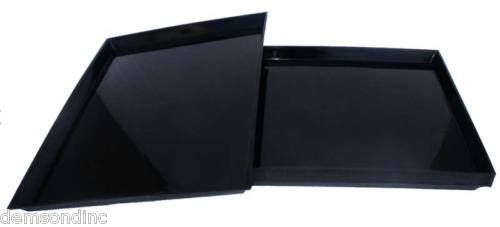 """Lot of 4 Replacement Seed Plastic Trays for 30""""x18""""x18"""" Bird Cage Black - http://www.balanced4u.net/crittercare/lot-of-4-replacement-seed-plastic-trays-for-30x18x18-bird-cage-black/"""