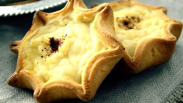 ΥΛΙΚΑ  Για τη γέμιση:  500 γρ. γλυκιά μυζήθρα, καλά στραγγισμένη 2 κ. σ. γεμάτες ζάχαρη ½ αυγό, χτυπημένο (το χτυπάω και χρησιμοποιώ το μισό για τη γέμιση και το άλλο μισό για επάλειψη των καλιτσουνιών) Για τη ζύμη:  63 γρ. βούτυρο, σε θερμοκρασία δωματίου 125 γρ. ζάχαρη 1 αυγό 62 ml γάλα ½ βανίλια 10 γρ, μπέικιν πάουντερ 375 γρ. αλεύρι μαλακό ½ αυγό, χτυπημένο λίγη κανέλα, για γαρνίρισμα