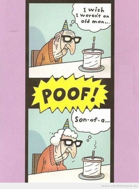 Funny Old Man Birthday Wishes