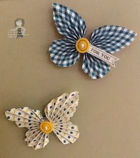 Linda shared these adorable butterflies with us at our Demonstrator Diva get together this month.  I love these little magnets, they are so cute!