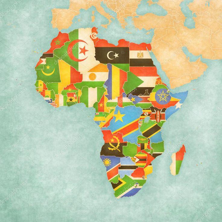 Africa Map Horn Of Africa%0A Resultado de imagem para mapa da africa com todas as bandeiras que o forma