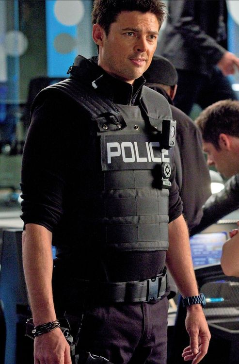 Arrest me, officer, I've been bad.  Please, handcuff me. ~ Now I know I have this one already but my god, just look at him, damn!