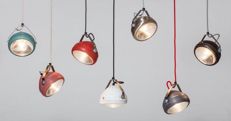 fietslampen als hanglampen boven de eettafel