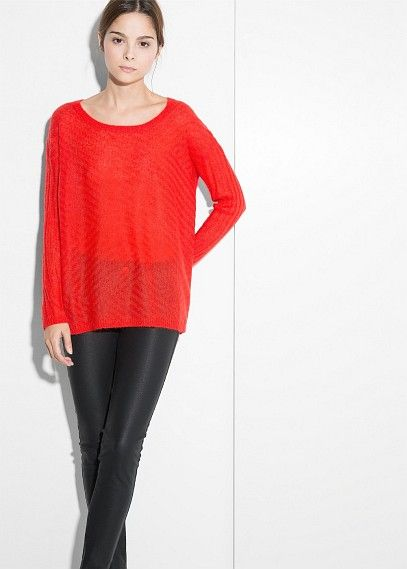 Pull-over mohair texturé - Cardigans et pull-overs pour Femme | OUTLET