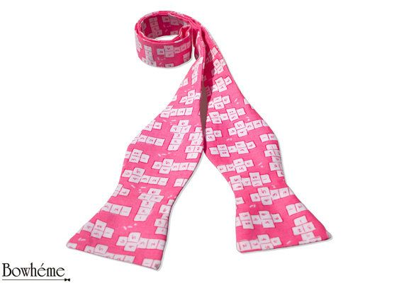 Self Tie Bow Tie  Hopscotch by Bowheme on Etsy, $16.50