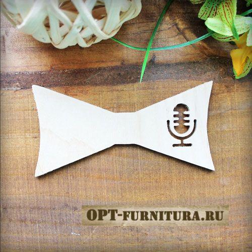"""Заготовка деревянная галстук-бабочка """"Микрофон"""" #галстукбабочка #деревянныйгалстук #декупаж #заготовка"""