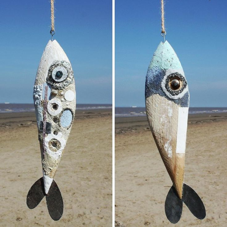 Driftwood Art Fish Blue | Driftwood Fish | Laurence Henry - buy the sea