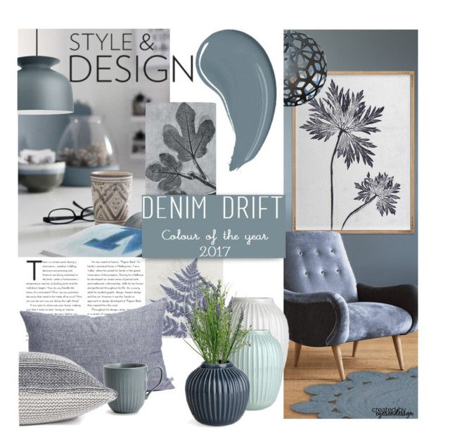 """Colour of the Year ~ Denim Drift"" by eyesondesign ❤ liked on Polyvore featuring interior, interiors, interior design, home, home decor, interior decorating, Anthropologie, David Trubridge, TastemastersDesignGroup and eyesondesigninteriors"