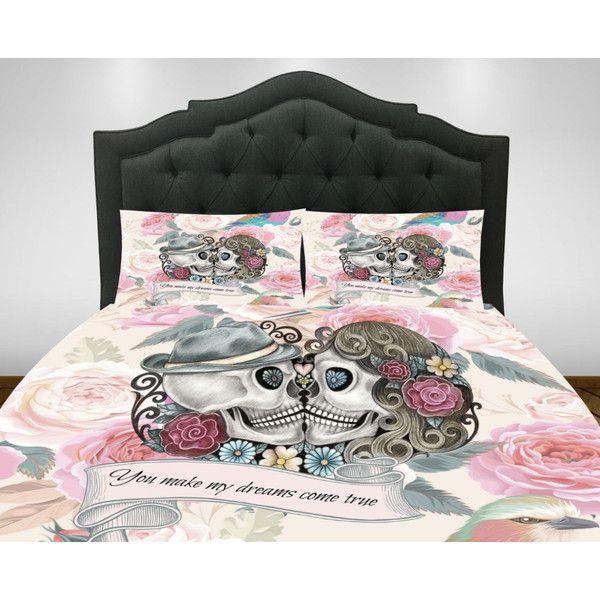 sugar skull comforter or duvet cover set twin full queen king bedding