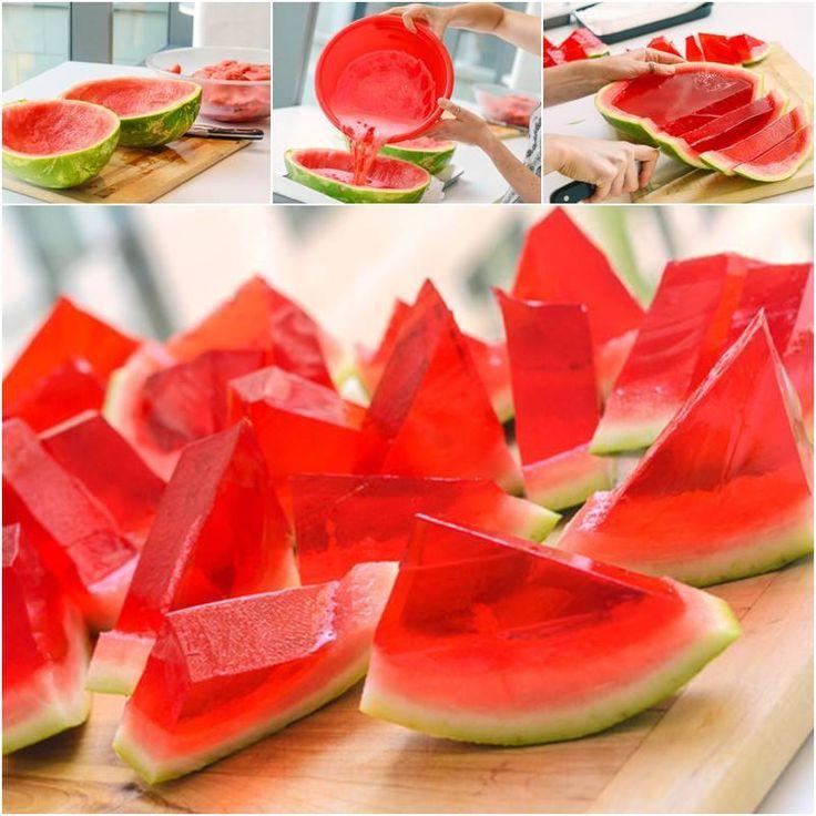Giant Watermelon Jello Shots