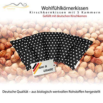 22€ Cojín de huesos de cereza / Almohada relajante para el tratamiento térmico – Almohada para calentar en microondas (Resistente al calor) // 5 divisiones //disponible en 18 colores (negro)