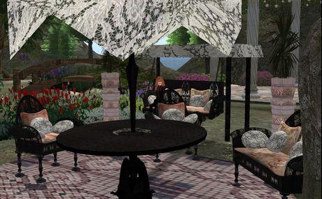 wrought iron garden  furniture set:victorian/gothic