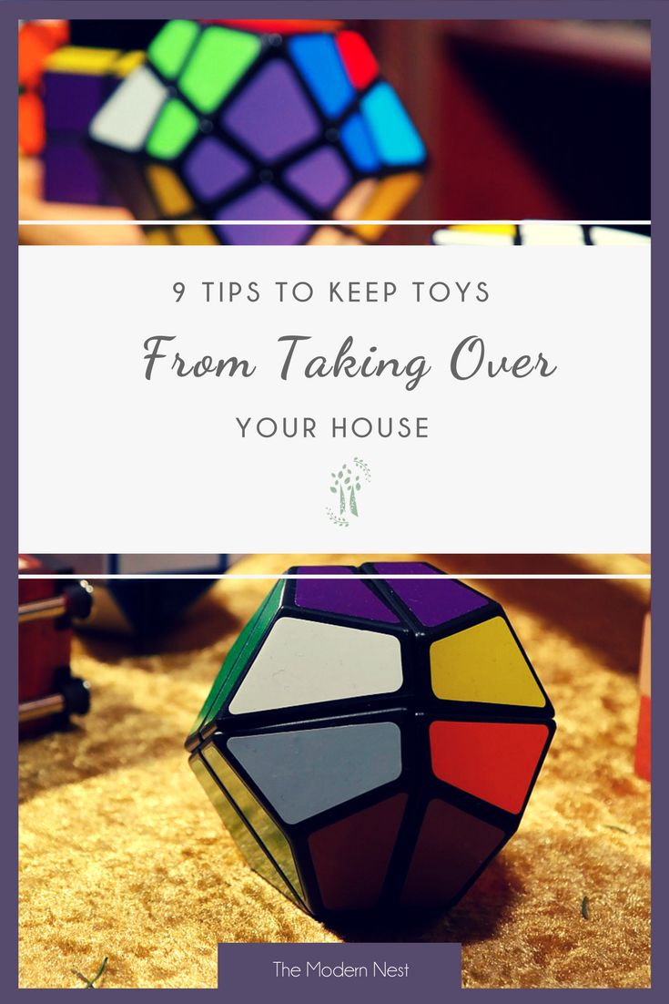 Do your kids have more toys than there is space? Don't worry, the toys don't have to take over! Here are 9 tips to keep toys from taking over your house. Read more at https://www.themodernnestblog.com/archives/968