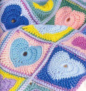 Criar fio ...: Um cobertor de corações e um desafio ...