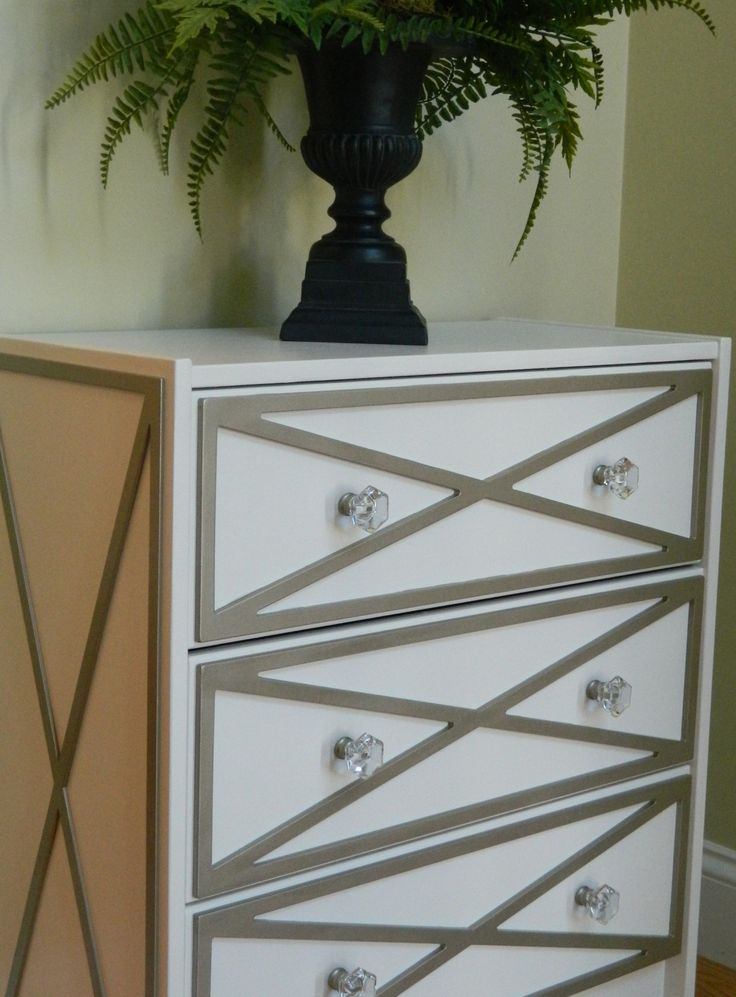 """Overlays Xandra Kit for IKEA Rast dresser Side panels sold separately in 1/4"""" thick material"""