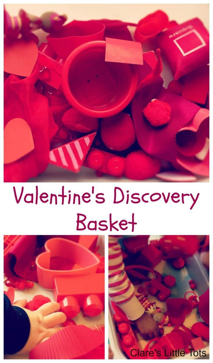 Quick and easy valentine crafts - Valentine S Discovery Basket Heuristic Playvalentine Craftsplay Ideassensory