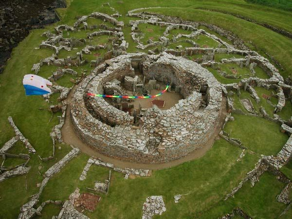 Remains of a 2000 year old tower and surrounding dwellings - the Broch